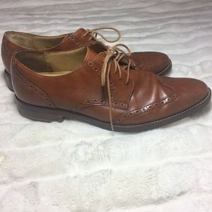 COLE HAAN Grand OS Mens Brown Wingtip Oxford Shoes